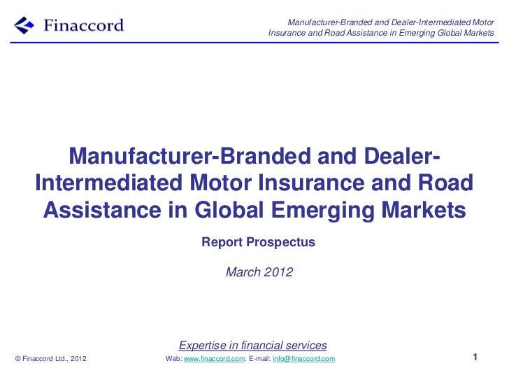 Report prospectus manufacturer-branded_dealer-intermediated_motor_insurance_road_assistance_emerging_global_markets