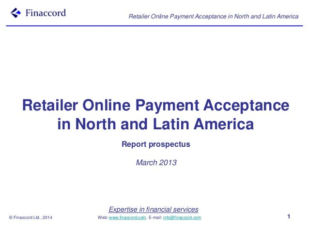 Retailer Online Payment Acceptance in North and Latin America