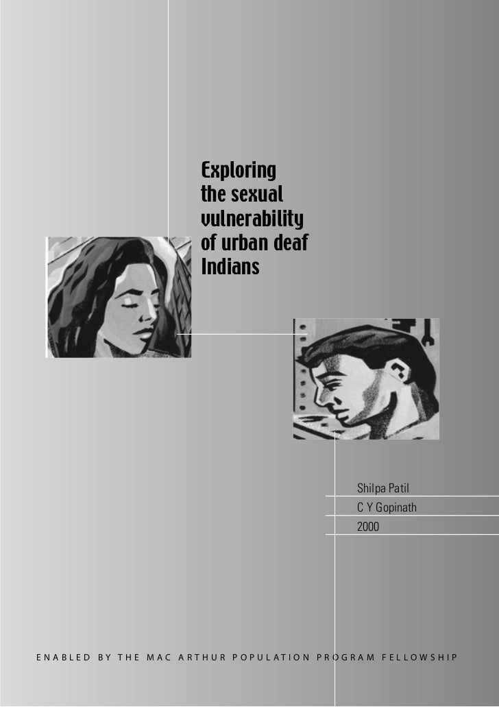 Exploring the Sexual Vulnerability of Urban Deaf Indians