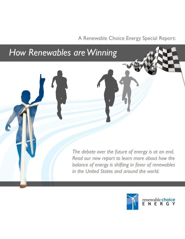 How Renewables are Winning - Report
