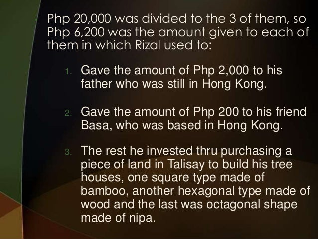 rizals life and work Revolution in text: an examination of jose rizal's historical documents (1886-1896)  work, and learn about the.