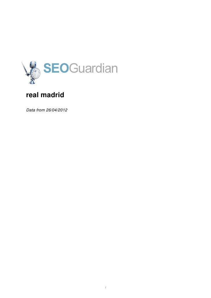 real madridData from 26/04/2012                       1