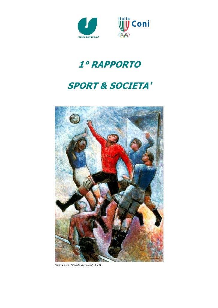 Report Sport e Società_2008