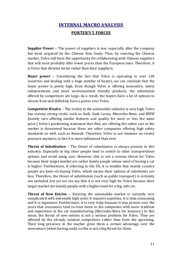 porters five forces model essay Porters five force model a five forces (10 points) conduct a 'five forces' analysis of methanex, using porter's five forces model company — ivey methanex the question was first posted at write my essay.