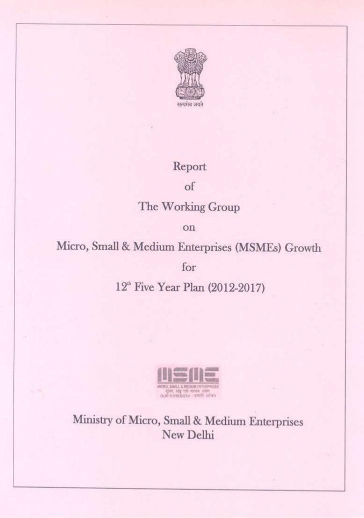 Report working group_5yearplan-2012-17