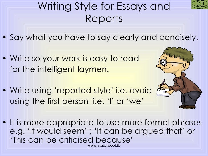 How can I say that I did something in an essay without using the first person.?