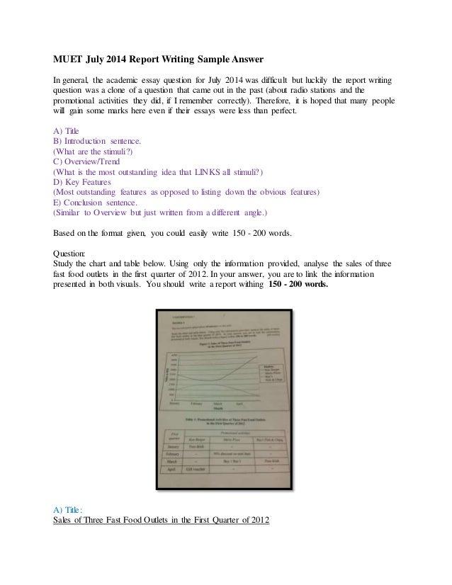 Muet Writing Essay