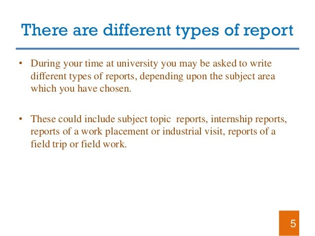 Different kinds of report writing