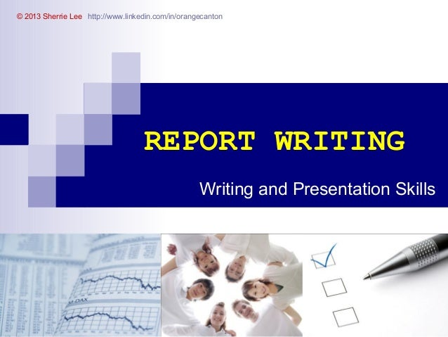 How can I start off writing a report?