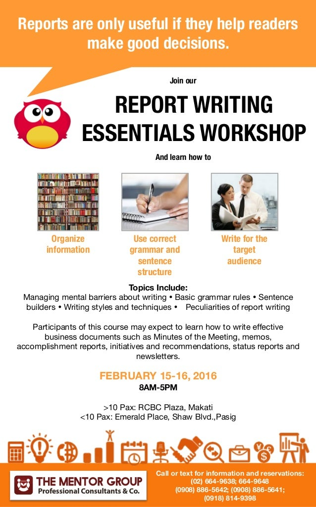 essentials of good report writing