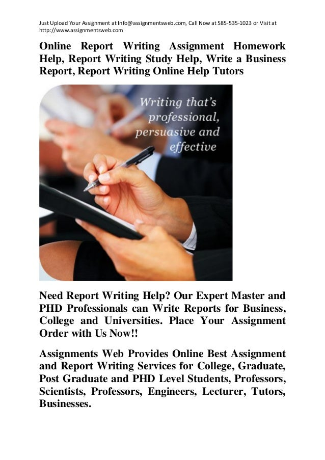 Report Writing Help - UK Writers - Assignments Web
