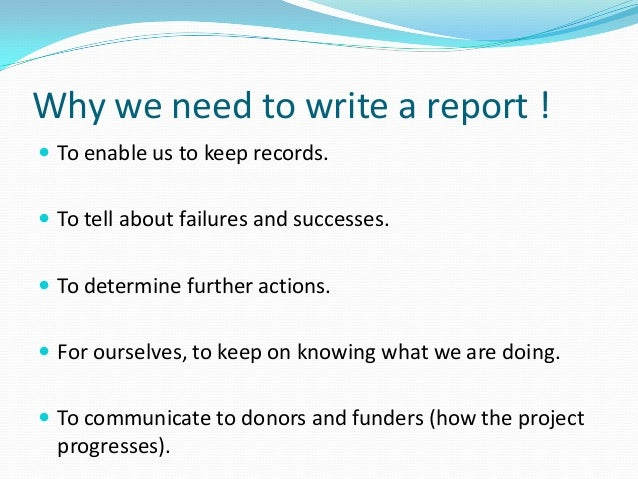 How to write a report?