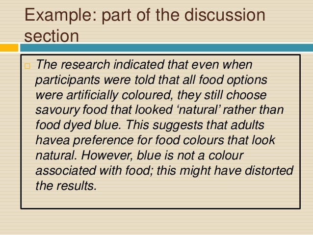 discussion section of a research paper example