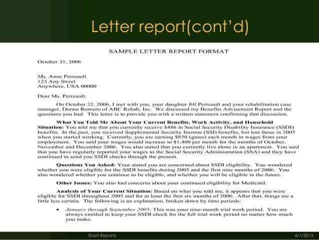 Report Writing: Format - SlideShare