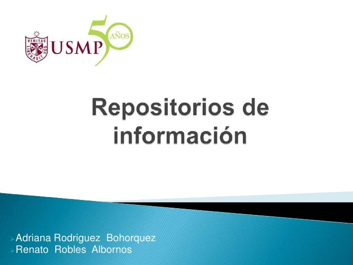 Repositorios de información    c