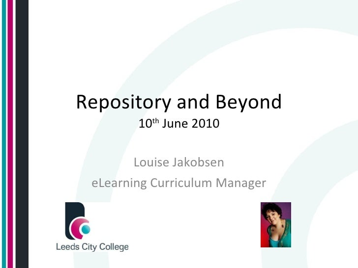 Repository And Beyond Louise Jakobsen