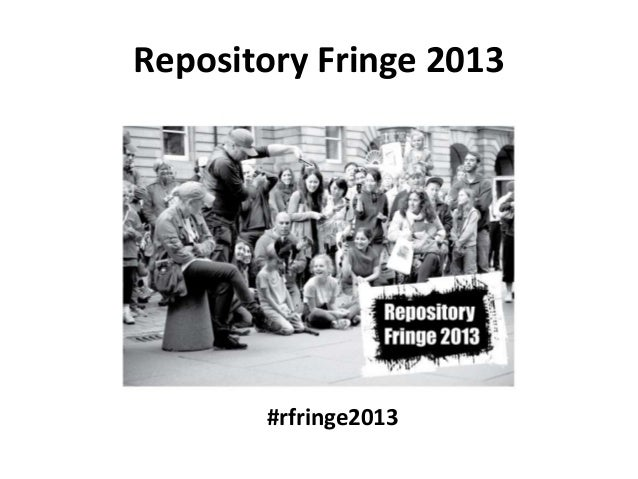 Repository Fringe 2013 - Day 3 Programme