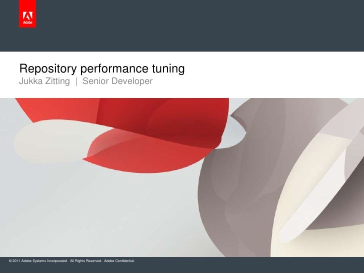 Repository performance tuning