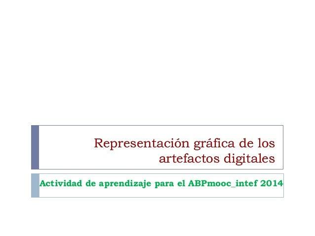 Representación gráfica de los artefactos digitales Actividad de aprendizaje para el ABPmooc_intef 2014