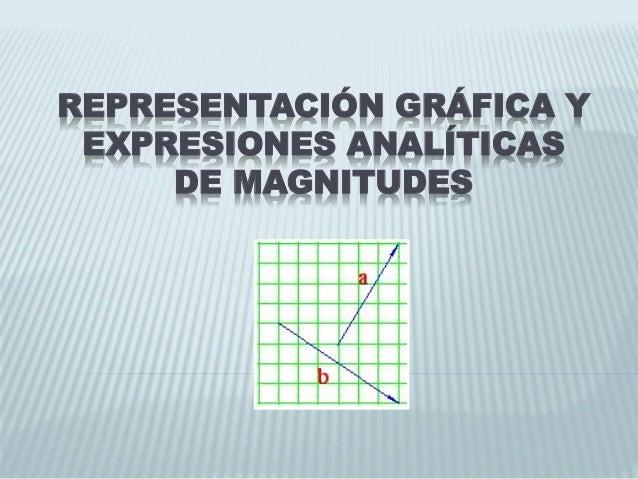 REPRESENTACIÓN GRÁFICA Y EXPRESIONES ANALÍTICAS DE MAGNITUDES