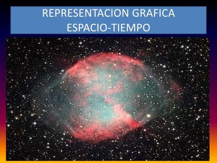REPRESENTACION GRAFICA    ESPACIO-TIEMPO