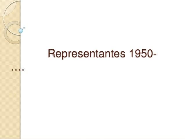 Representantes 1950….