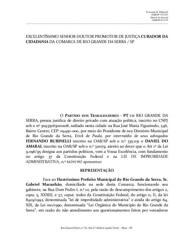 Fernando R. Rubinelli OAB/SP 335.051 Daniel do Amaral OAB/SP311.079 ______________________________________________________...