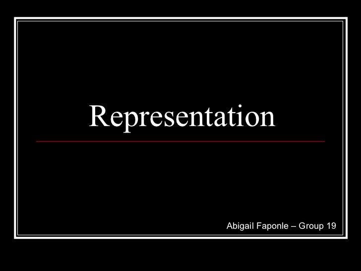 Representation   abigail faponle