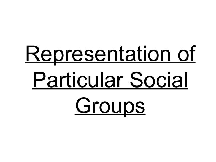 Representation of Particular Social Groups