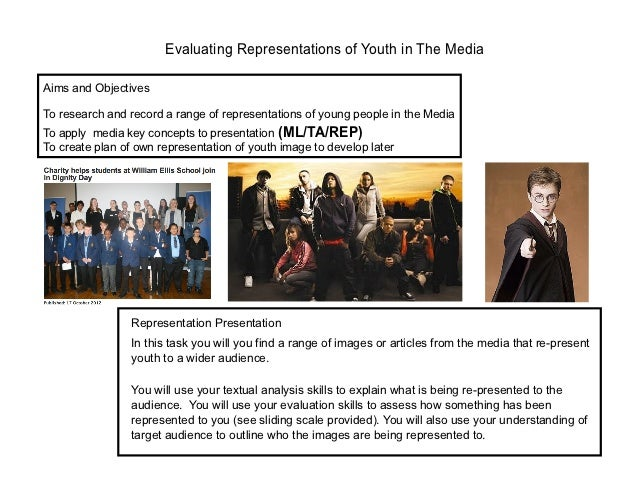 Evaluating Representations of Youth in The MediaAims and ObjectivesTo research and record a range of representations of yo...