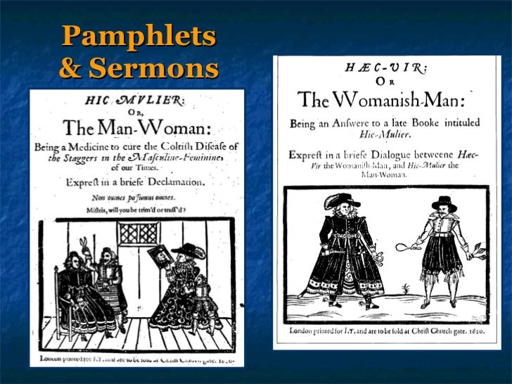 Representations of the fall 1 pamphlets and sermons