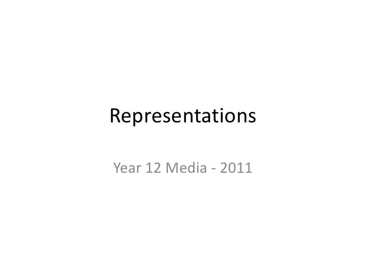 Representations Introduction - Year 12