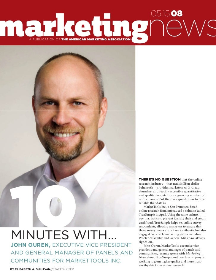 Marketing News: 10 Minutes with John Ouren
