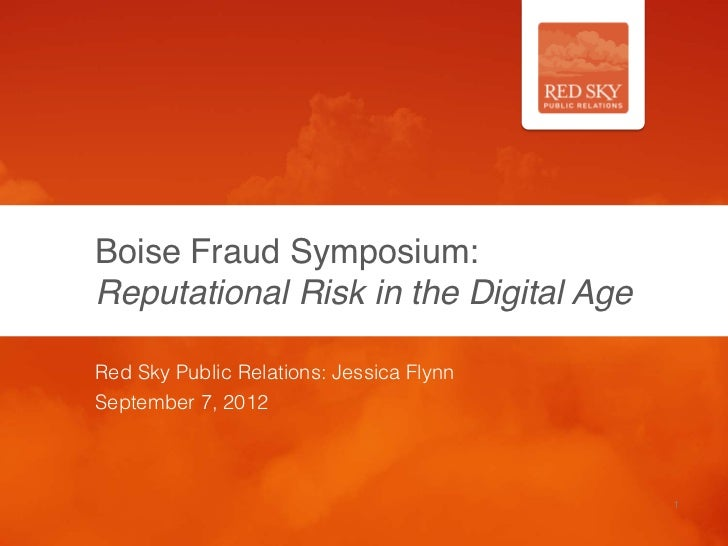 Boise Fraud Symposium:
