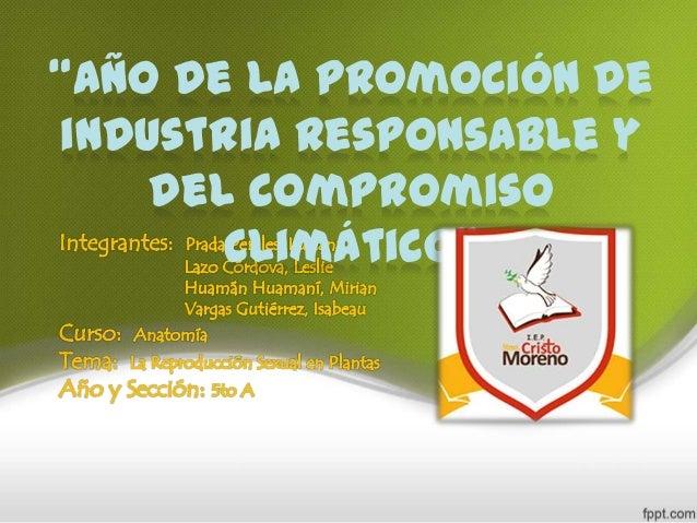 """""""Año de la promoción de industria Responsable y del compromiso climático"""""""