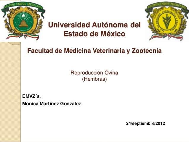 Universidad Autónoma del              Estado de México  Facultad de Medicina Veterinaria y Zootecnia                   Rep...