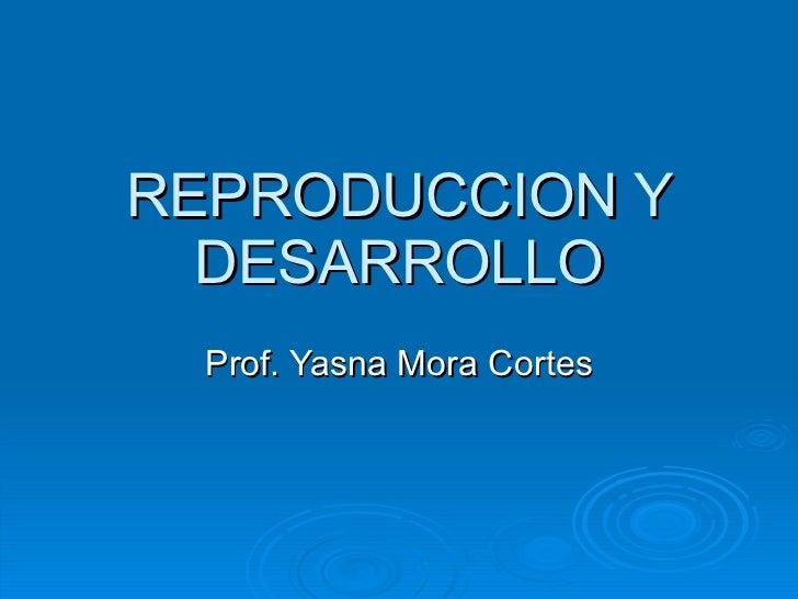 REPRODUCCION Y DESARROLLO Prof. Yasna Mora Cortes