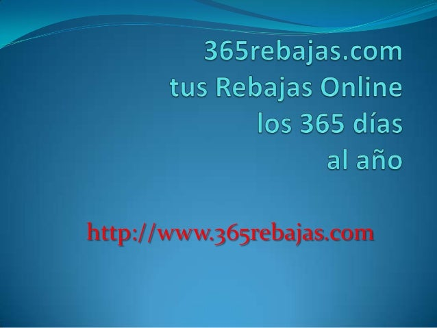 http://www.365rebajas.com
