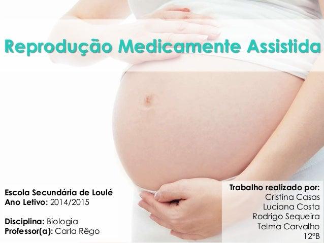 Reprodução Medicamente Assistida  Trabalho realizado por:  Cristina Casas  Luciana Costa  Rodrigo Sequeira  Telma Carvalho...