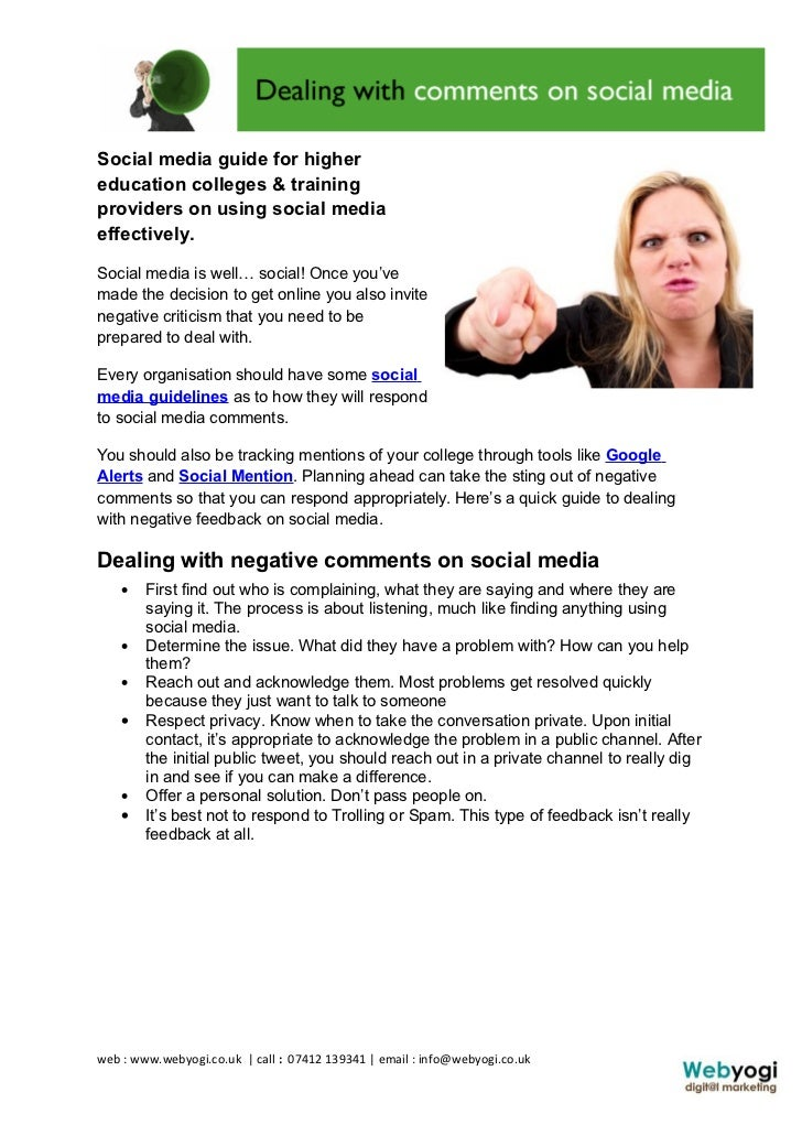 Social media guide for highereducation colleges & trainingproviders on using social mediaeffectively.Social media is well…...