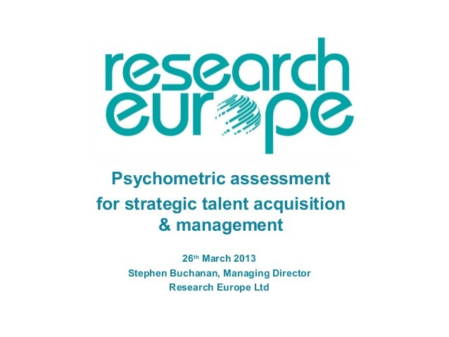 Psychometric Assessment For Talent Aquisition