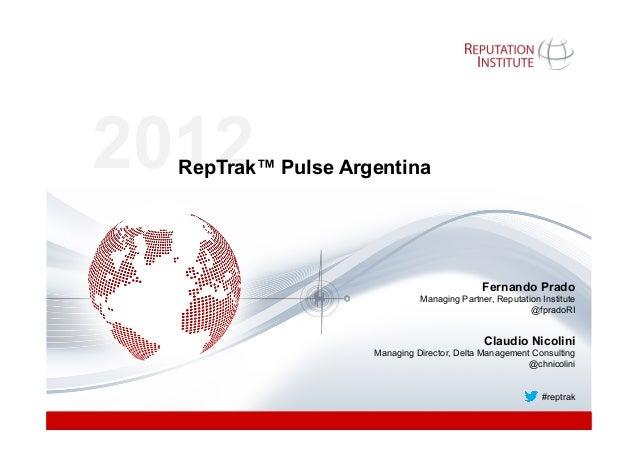 2012  RepTrak™ Pulse Argentina                                                                                          ...