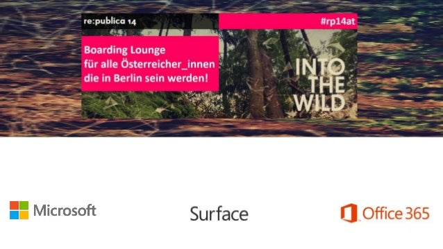 Agenda • Intro & Welcome • Surface Introduction • Surface Seeding Programm • Office 365 & Office for iPad • Snacks & Drink...