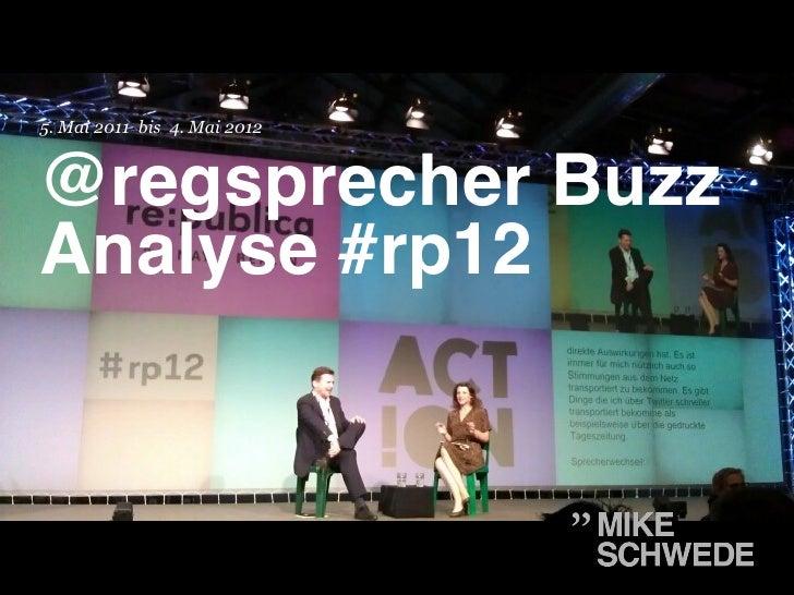 5. Mai 2011 bis 4. Mai 2012@regsprecher BuzzAnalyse #rp12!