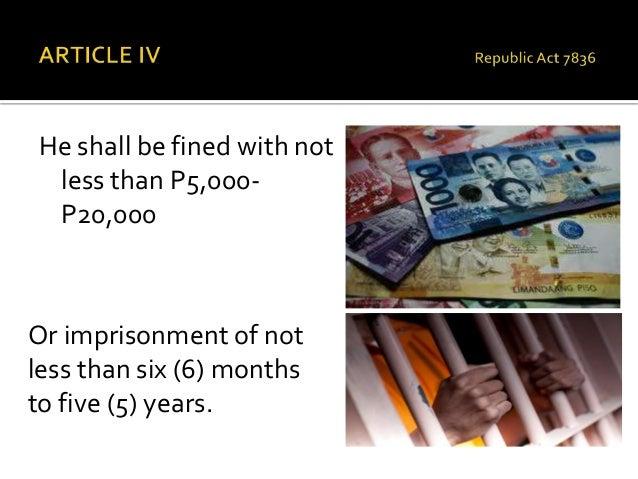 republic act no 7836 Republic act no 7836 clark daniel sisto loading republic act 10088 - anti-camcording act of 2010 - duration: 7:58 patrick bruce jacinto 818 views.