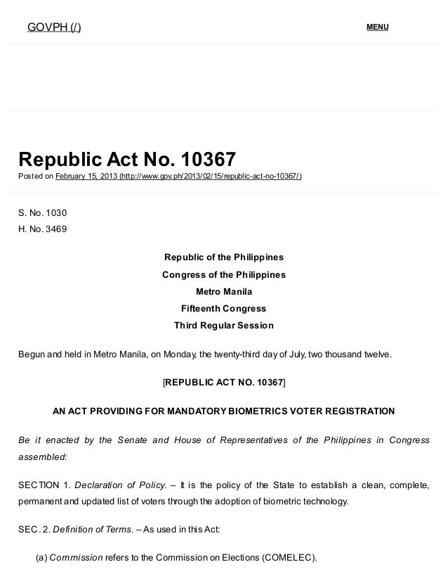 republic act no 7160 Whereas, pursuant to this declared policy, republic act no 7160, otherwise known as the local government code of 1991, affirms, among others, that the.