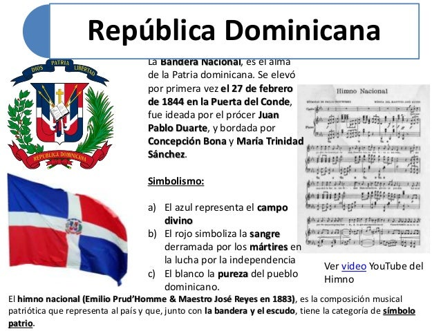 Republica dominicana for Al jardin de la republica letra
