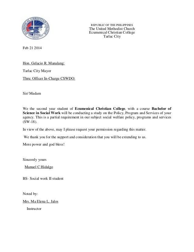 REPUBLIC OF THE PHILIPPINES  The United Methodist Church Ecumenical Christian College Tarlac City Feb 21 2014  Hon. Gelaci...