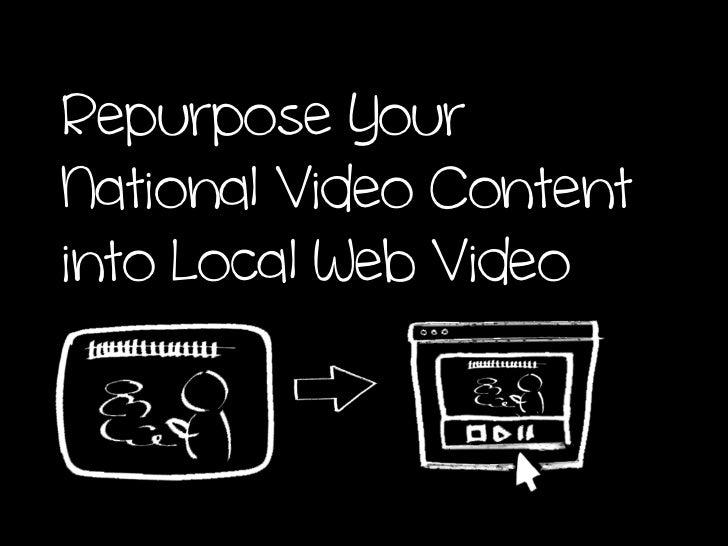 Repurpose YourNational Video Contentinto Local Web Video