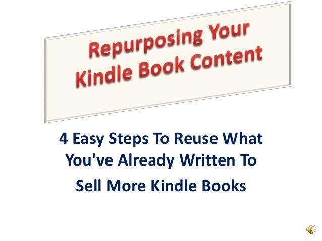 Repurposing Your Kindle Book Content